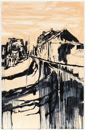 """Silver Night I"" 200 x 130 cm. oil on linen 2008"