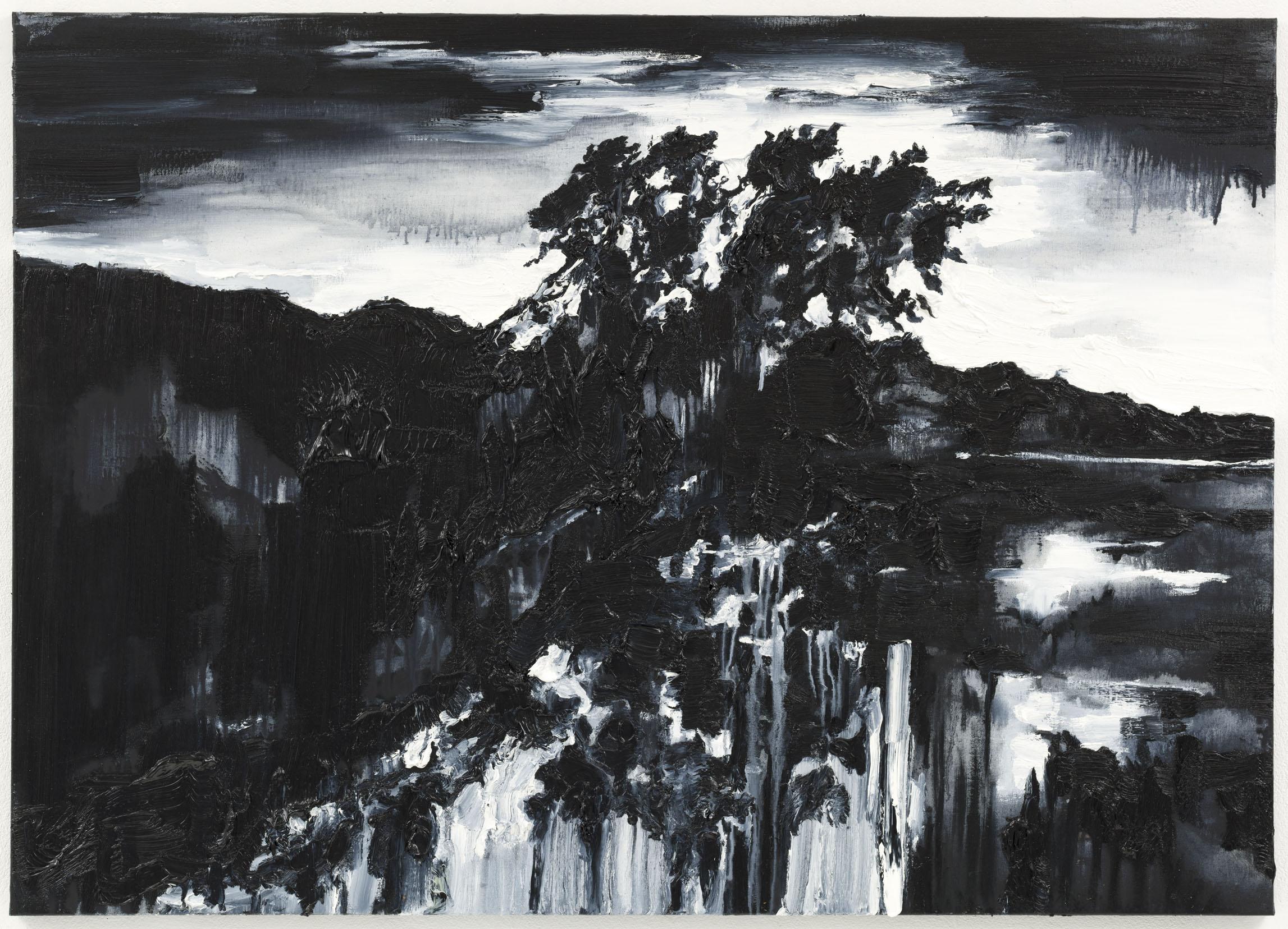 """""""Lua Nova II"""" 100 x 140 cm. oil on linen 2011"""