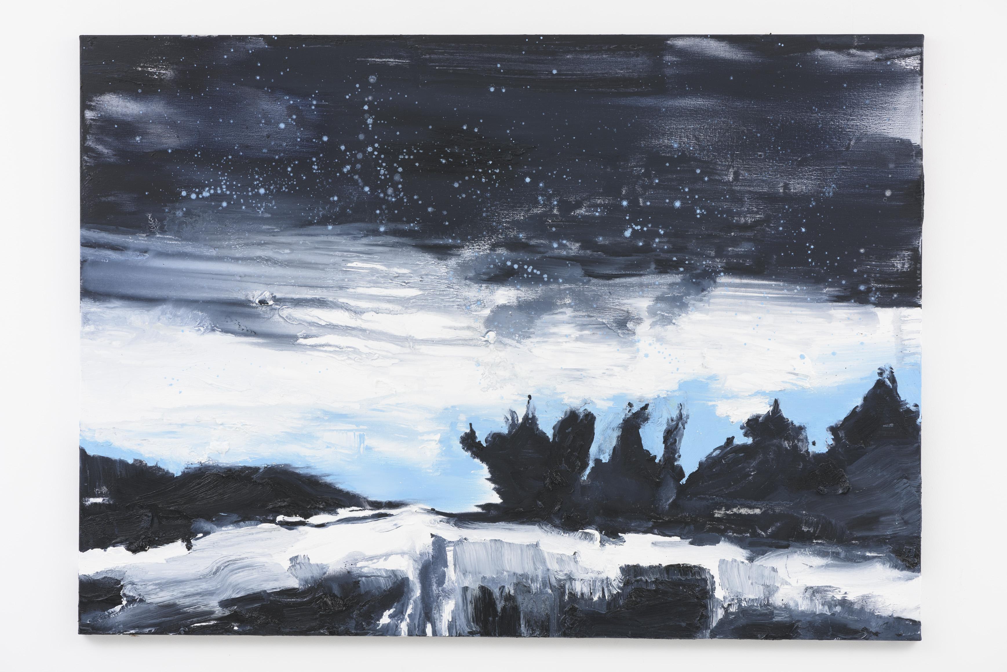"""""""Cair da Noite"""" 100 x 140 cm. oil on linen 2015"""