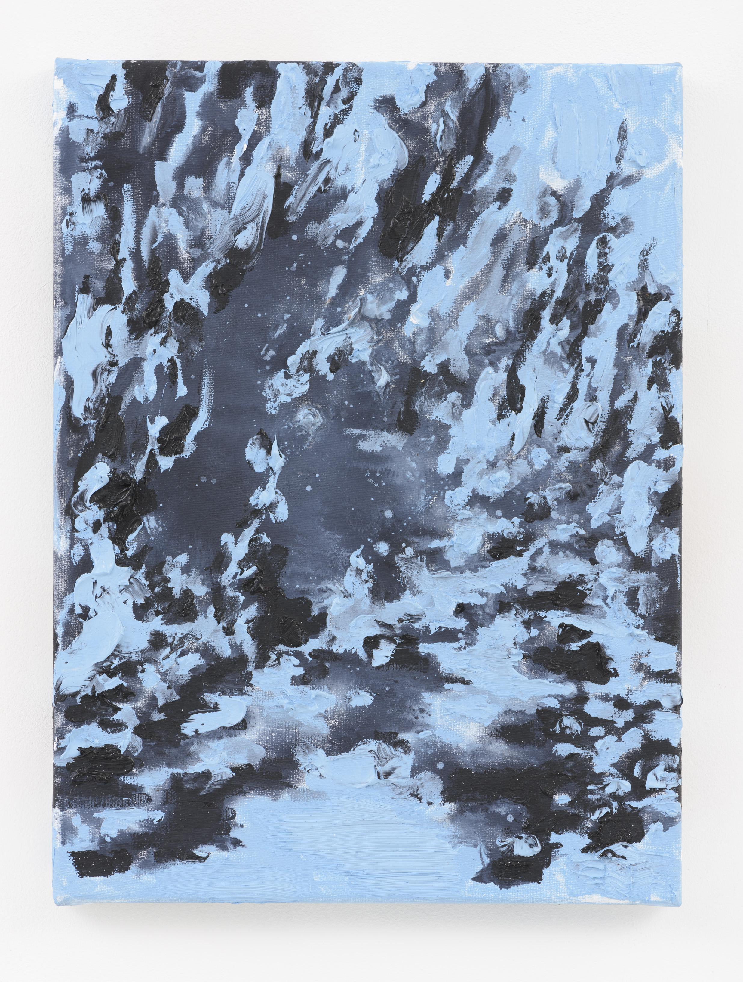 """Na Floresta Azul"" 40 x 30 cm. oil on linen 2015"