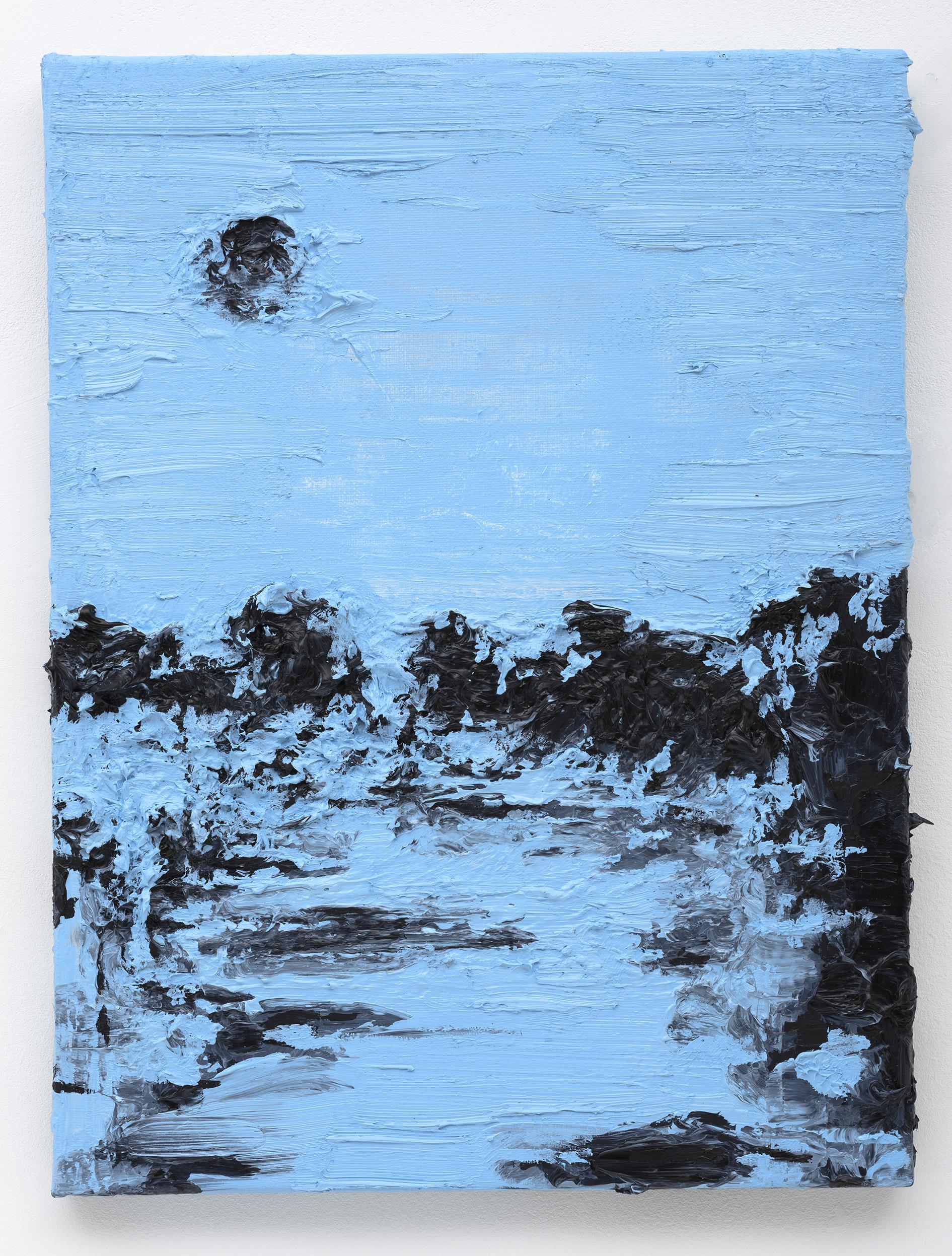 """""""Zwarte Maan"""" 40 x 30 cm. oil on linen 2015"""