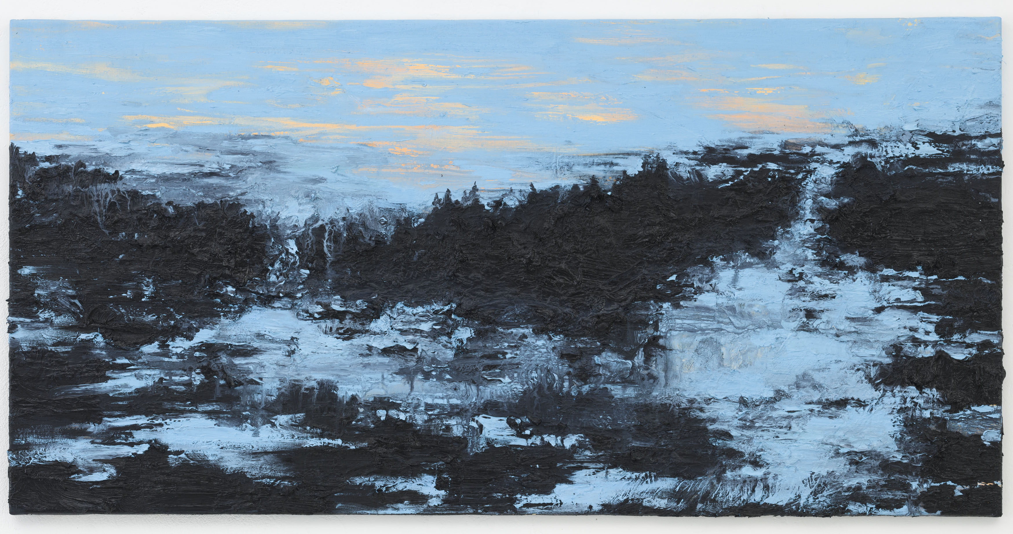 """Where the wild roses grow"" 70 x 140 cm. oil on linen 2012"