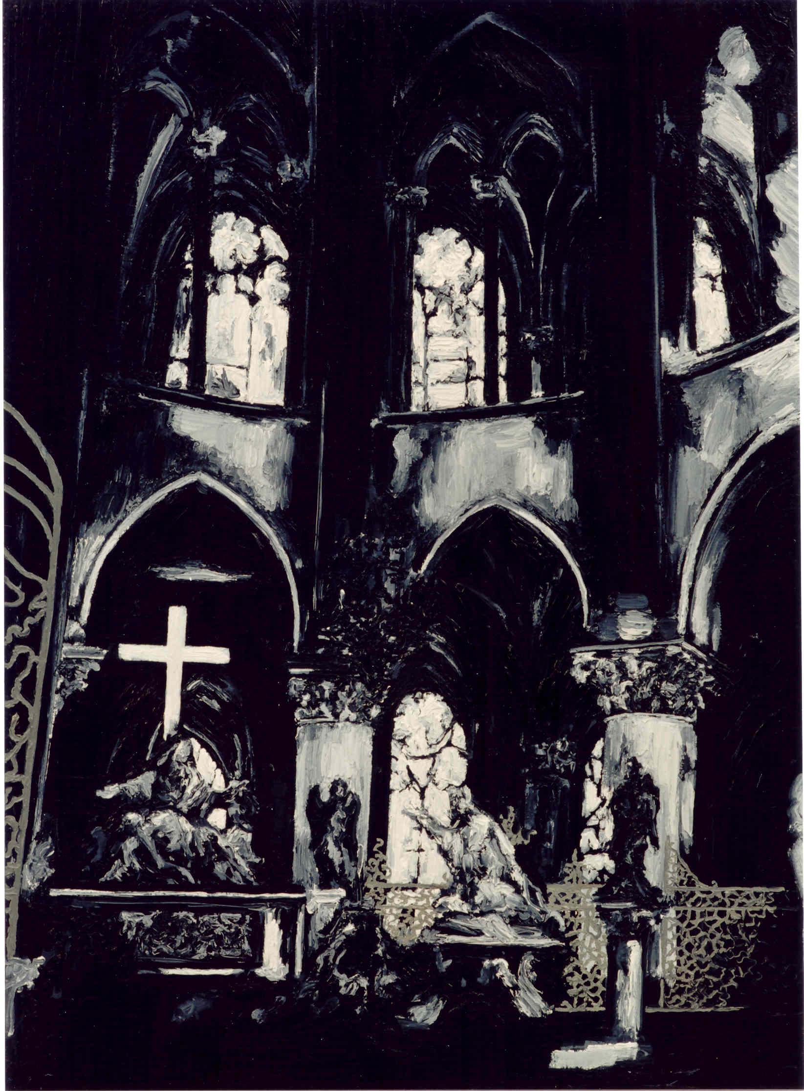 """""""Sanctus"""" 90 x 70 cm. 202"""