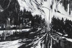 """""""Silver Night II"""" 200 x 130 cm. oil on linen 2008"""