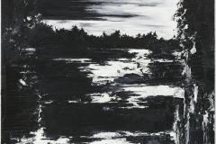 """Silentio Noctis VII"" 200 x 130 cm. oil on linen 2009"