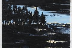 """""""Olha para a lua e pede um desejo"""" 90 x 90 cm. oil on linen 2010"""
