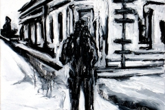 """Crossroads"" 60 x 50 cm. oil on linen 2005"