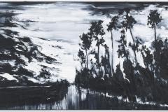 """""""Viagem Secreta"""" 60 x 150 cm. oil on linen 2011"""