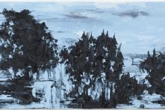 """Noite Azul II"" 50 x 140 cm. oil on linen 2013"