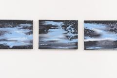"""""""Ceu Estrelado I,II, III"""" a 30 x 40 cm. oil on linen 2015"""