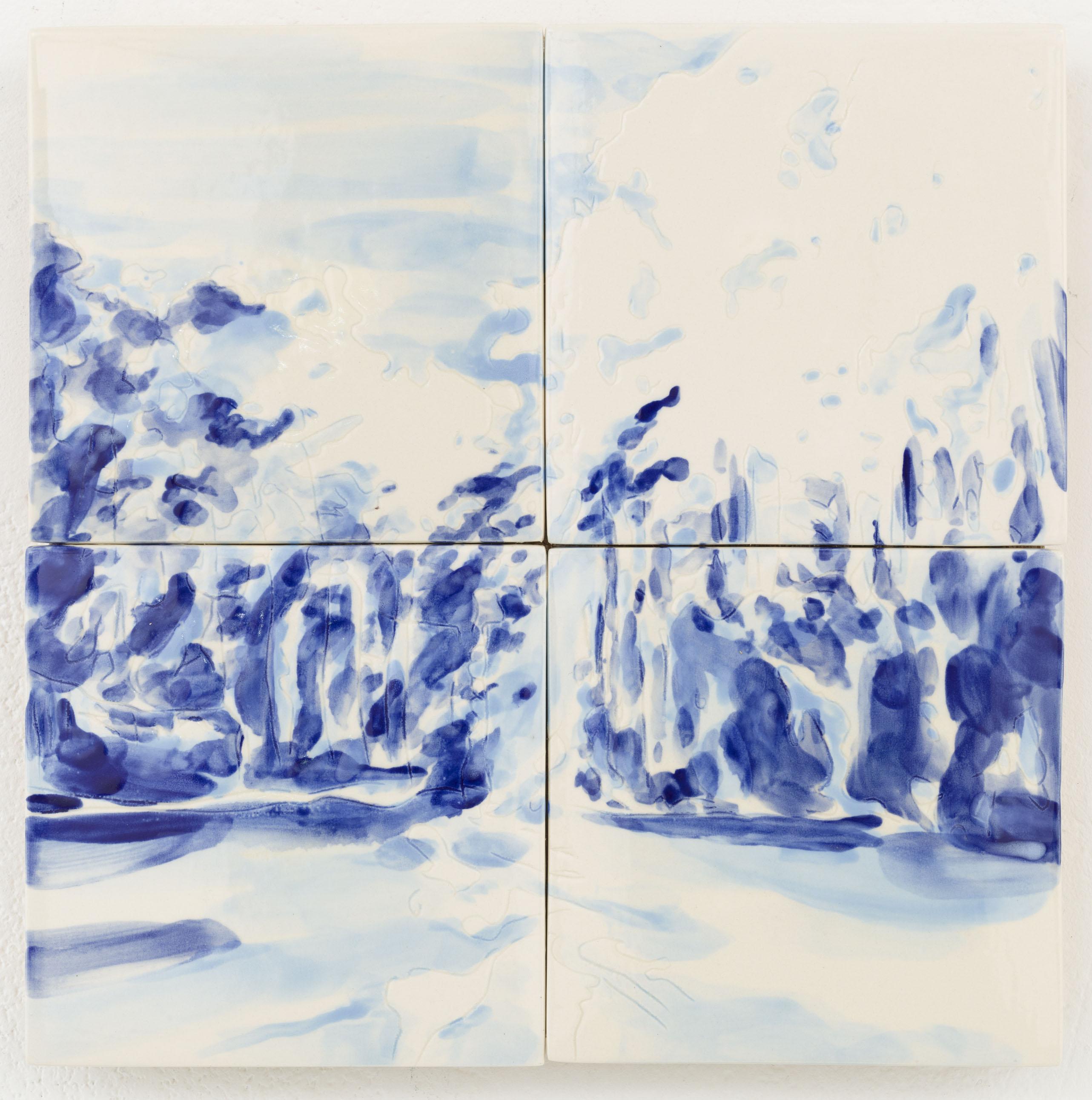 """""""Floresta I. 2 x 2 painted ceramic tiles, 29,5 x 29,5 cm, NL 2014"""