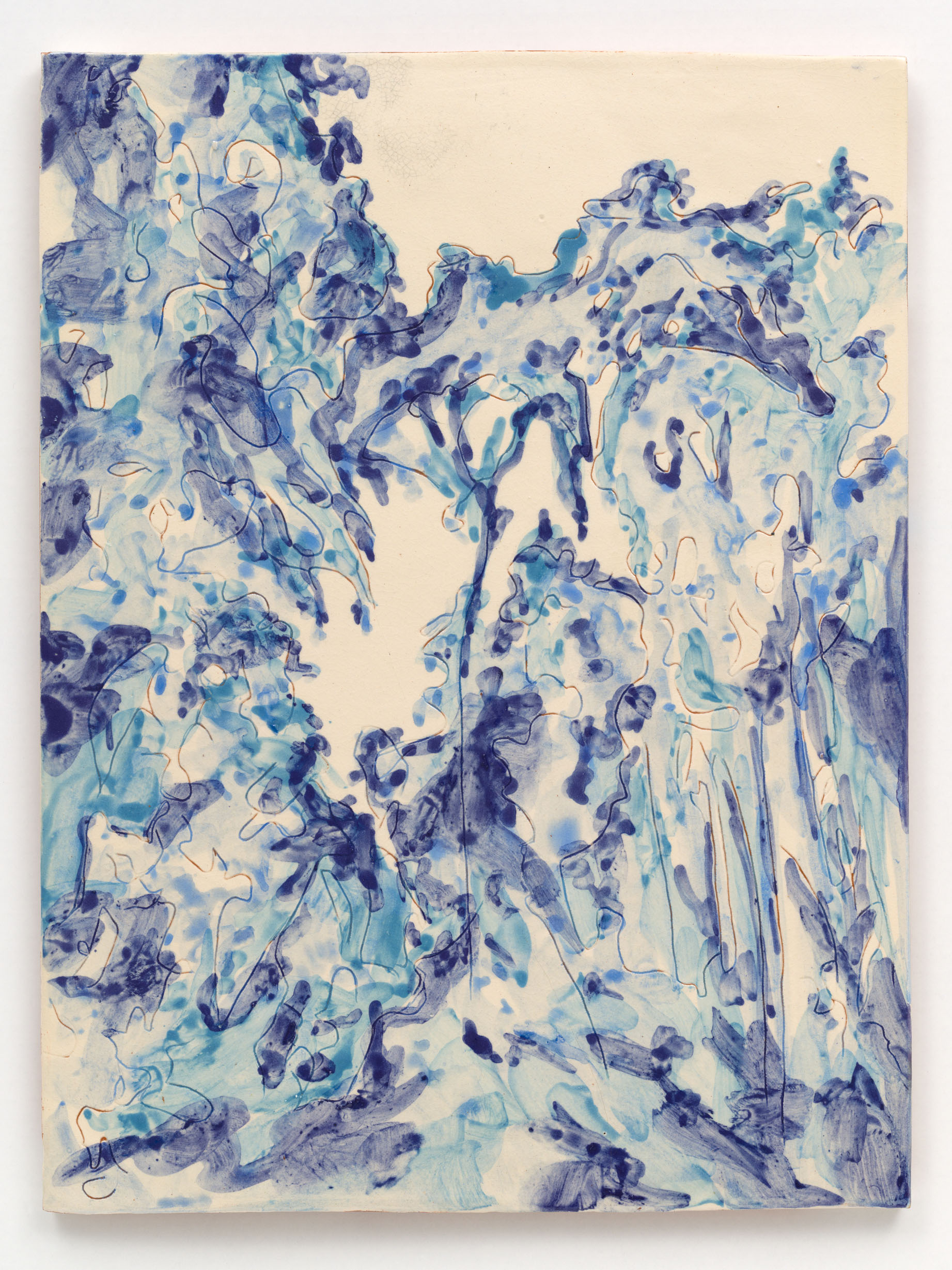 """Azulejo III"" 40 x 30 cm. painted ceramic tile Portugal 2011"