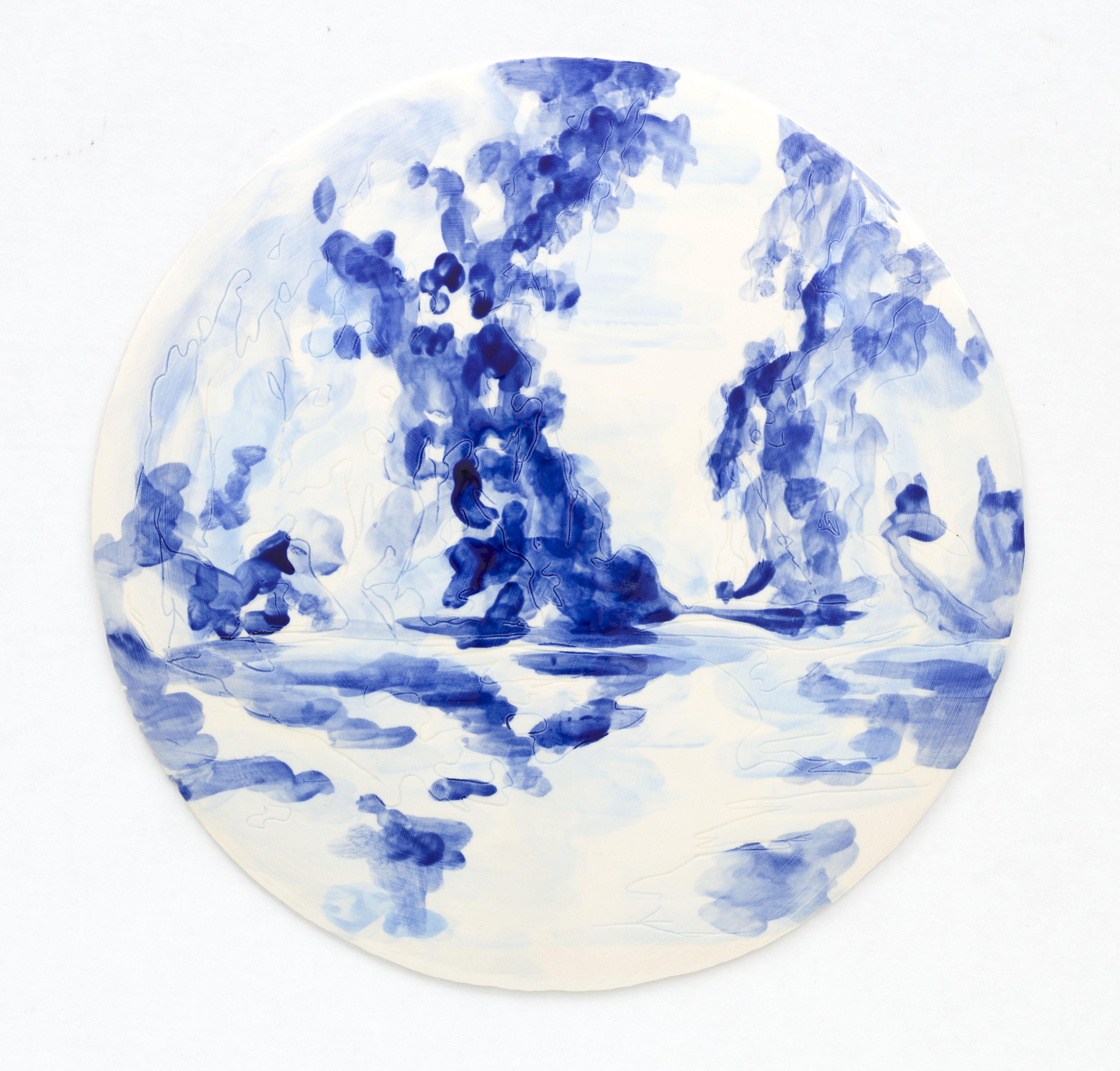 """Azulejo Redondo"" 28,5 cm. painted ceramic tile NL 2012"