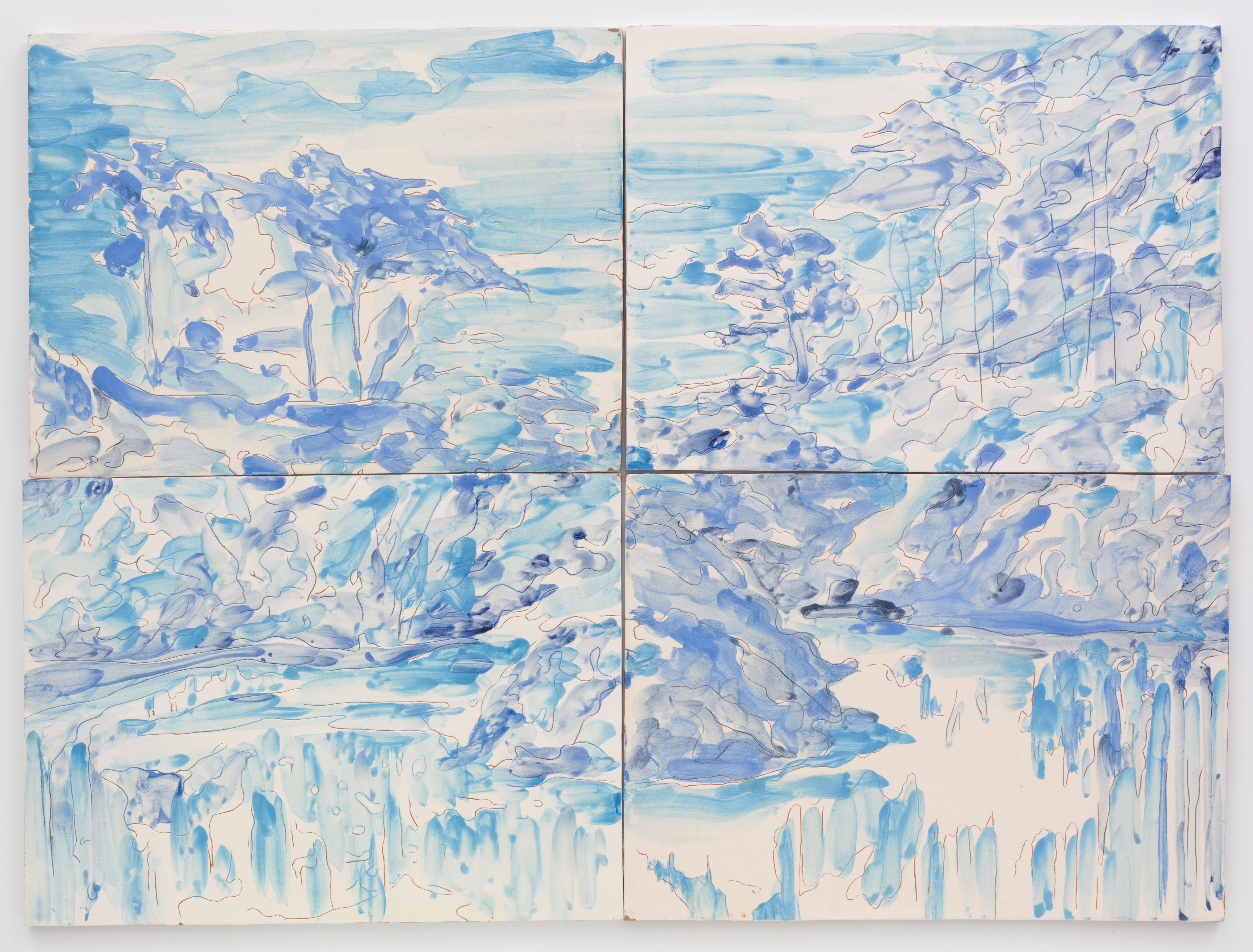 """""""Parque de Monserrate"""" 57 x 75,5 cm. painted ceramic tiles Portugal 2013"""