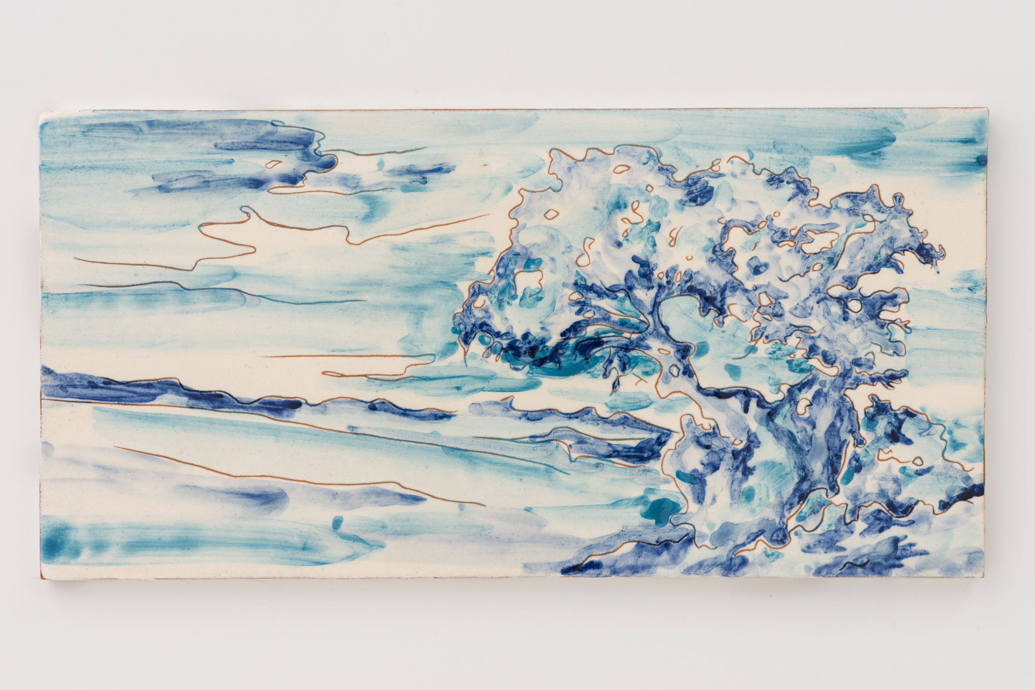 """Memorias Alentejana VI"" 14,5 x 29 cm. painted ceramic tile Portugal 2014"