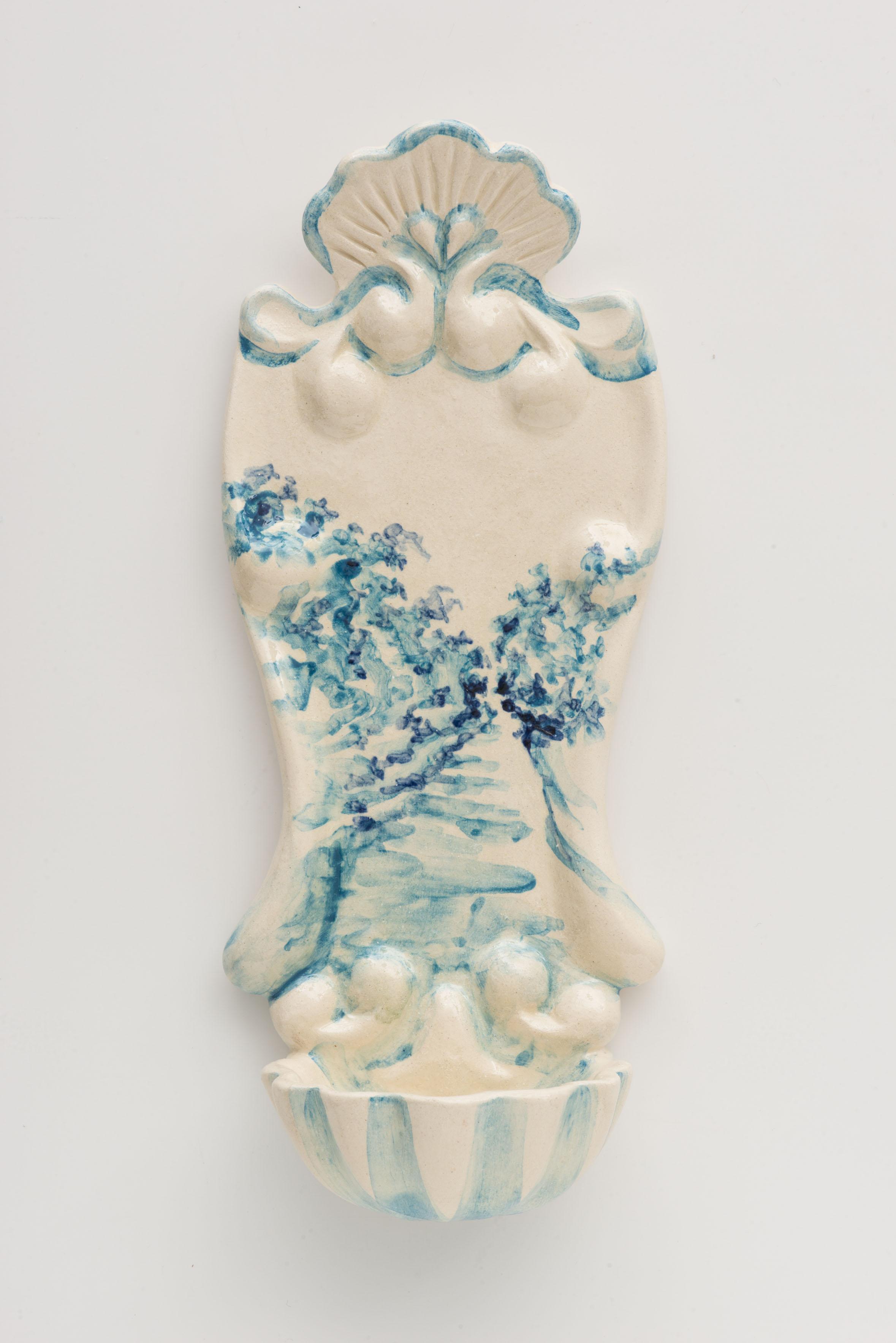 """""""Pia de Agua Bente I"""", painted ceramic pia de agua bent,e Portugal 2014"""