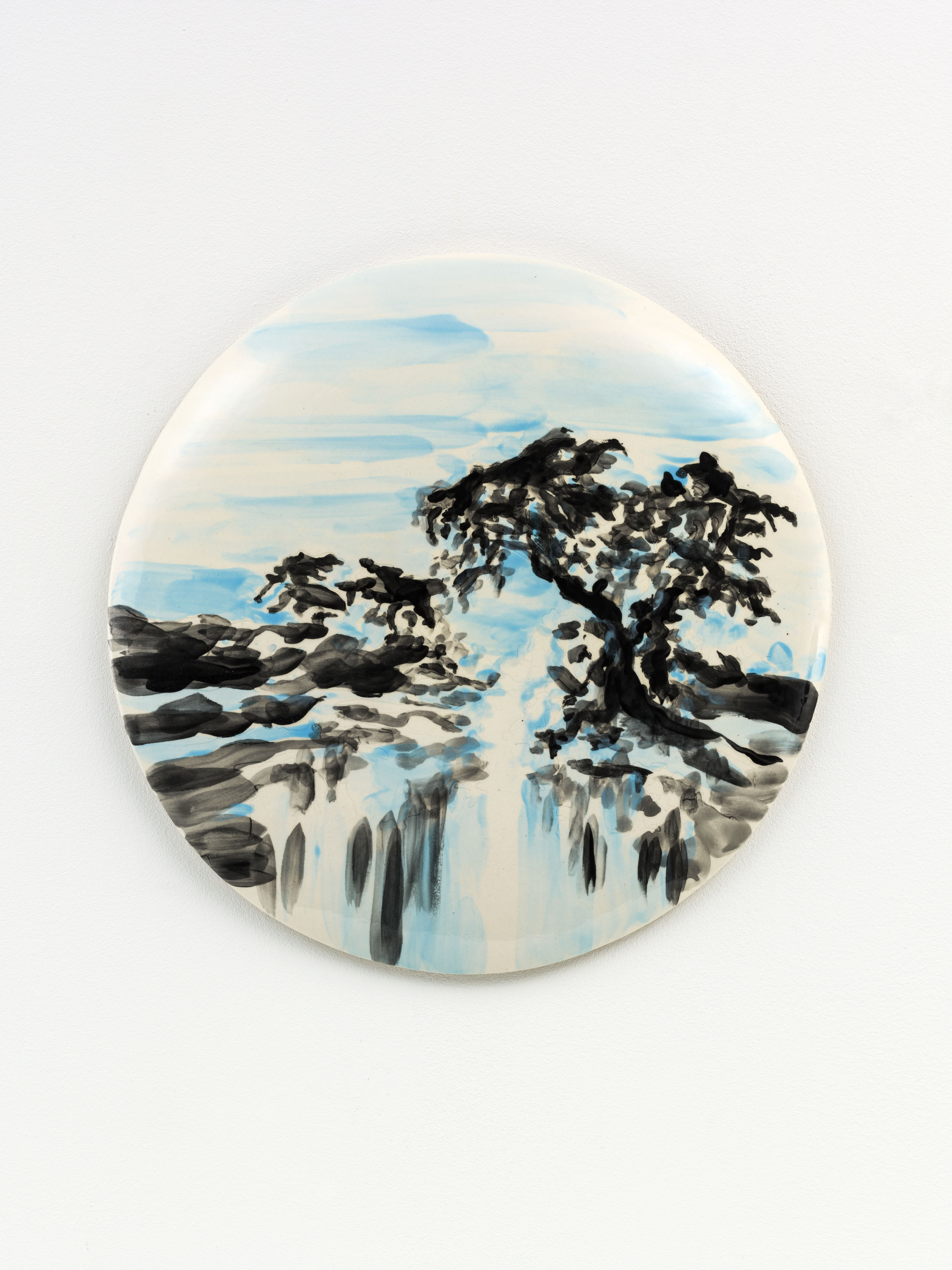 """O fim de Verao"" 33 x 33 cm. painted ceramic tile NL 2015"