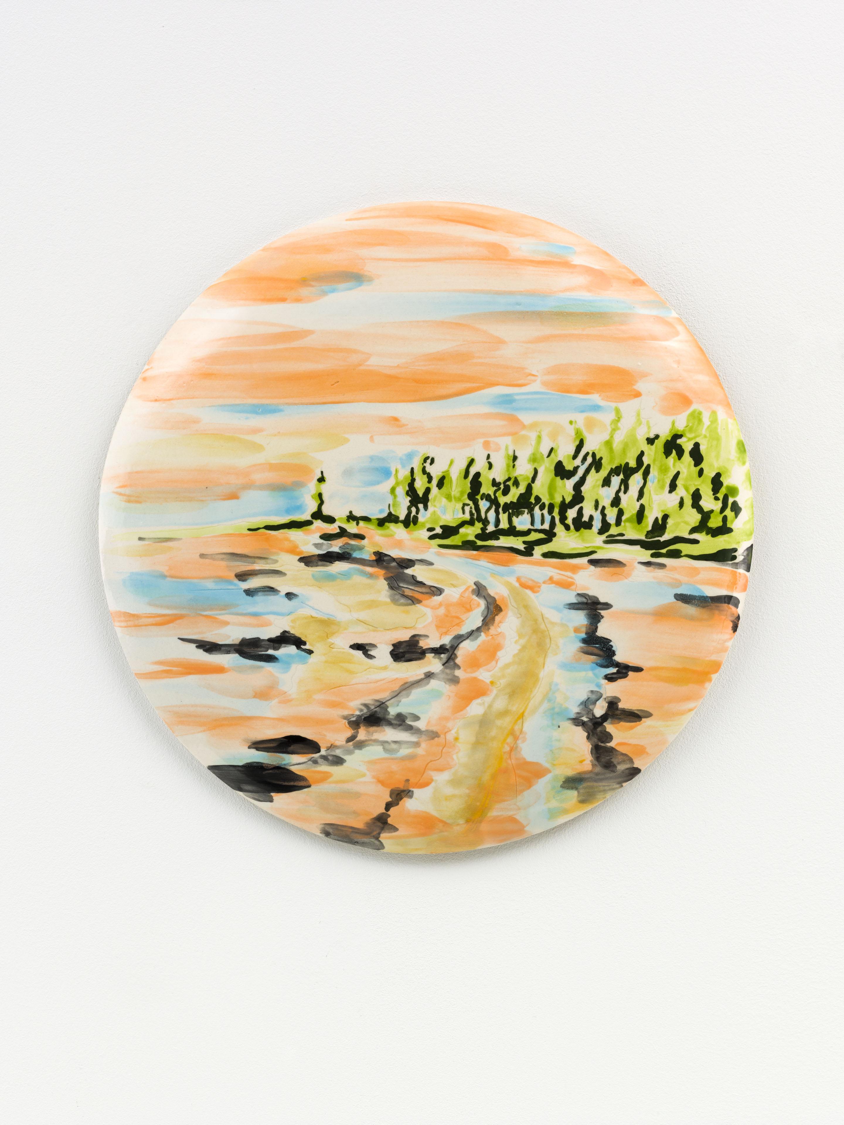 """""""Primavera' 33 x 33 cm. painted ceramic tile NL 2015"""