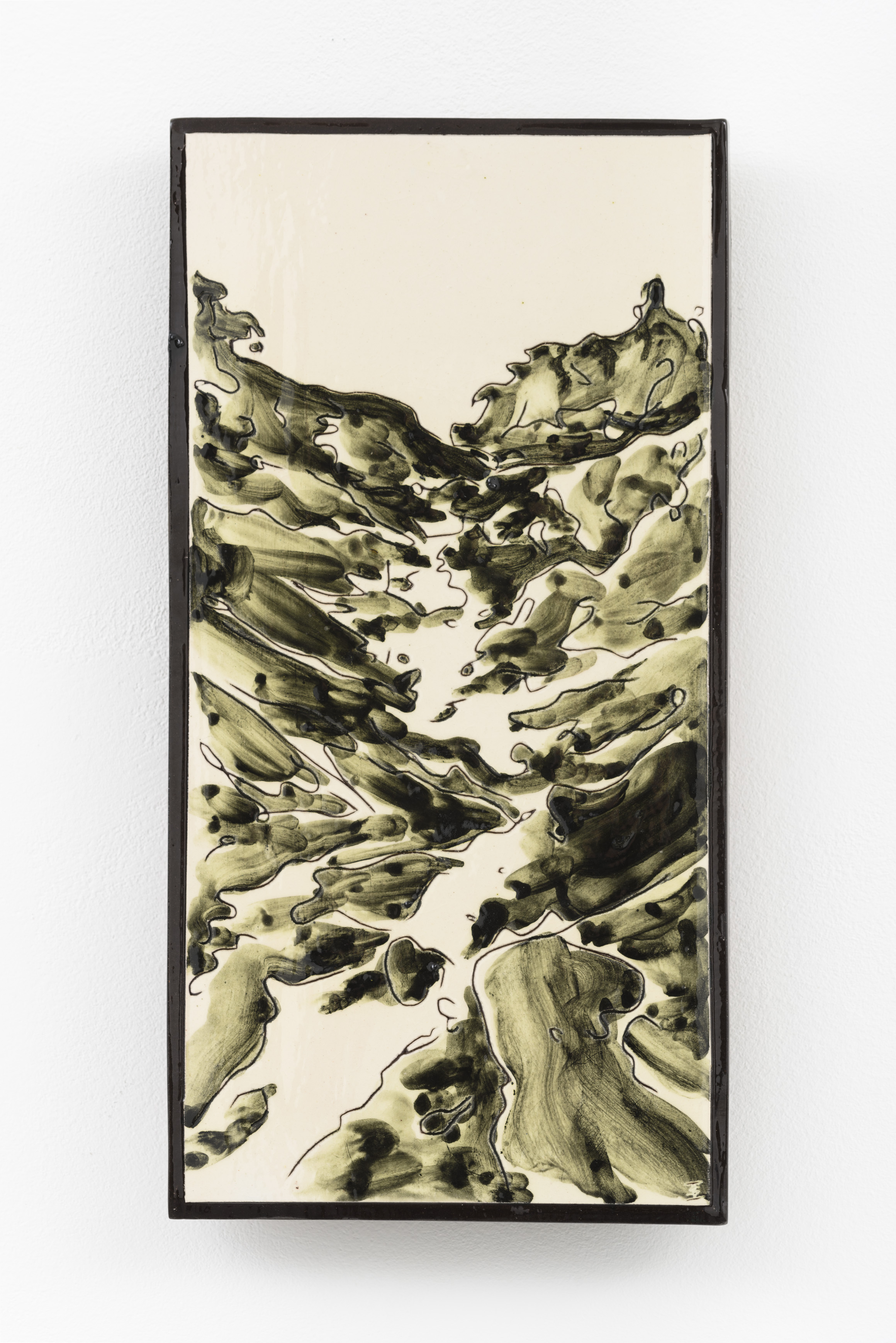 """O meu Alentejo II"", painted ceramic tile, 29 x 15 cm.,Portugal 2015"