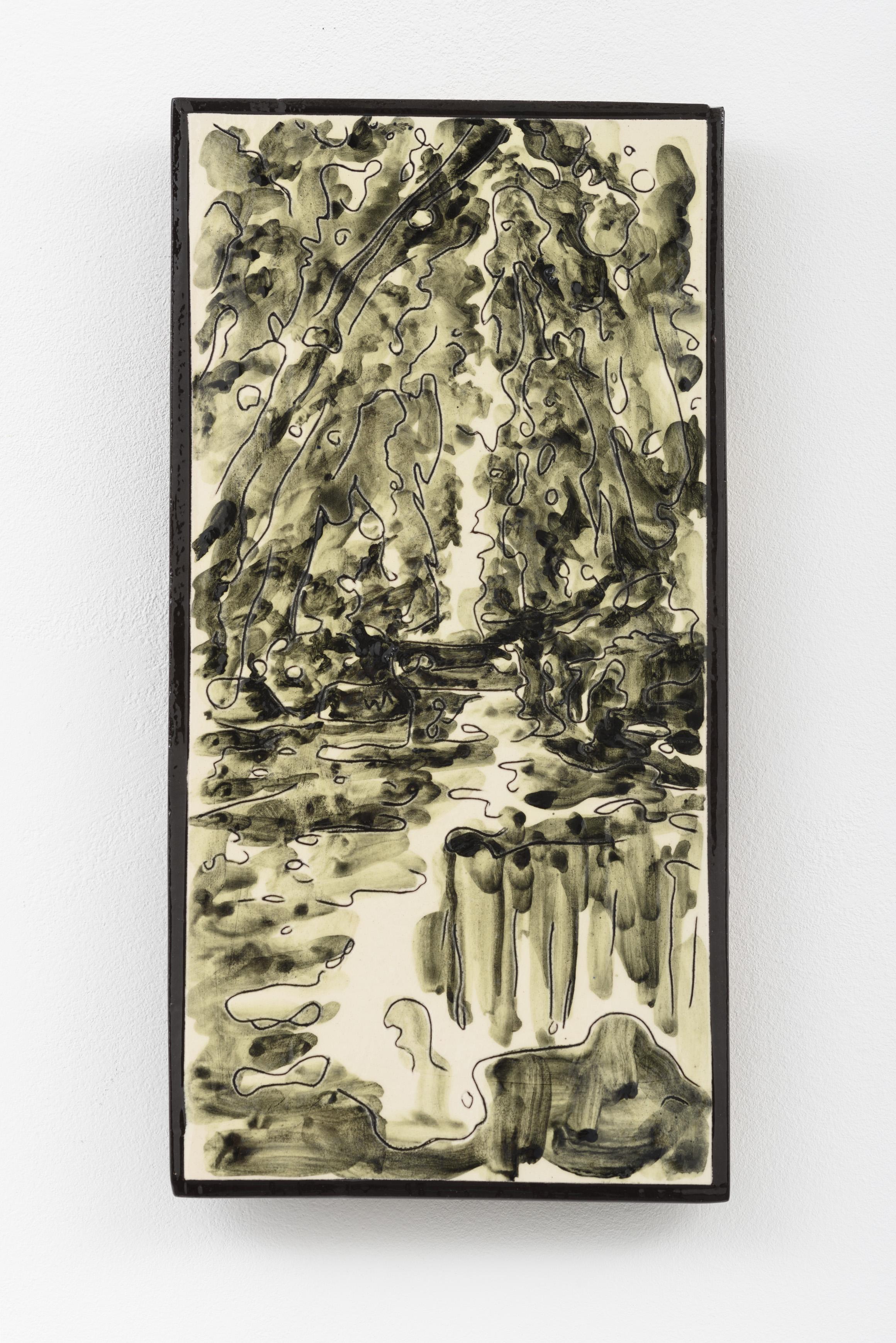 """O meu Alentejo IV"", painted ceramic tile, 29,1 x 14,8 cm., Portugal 2015"