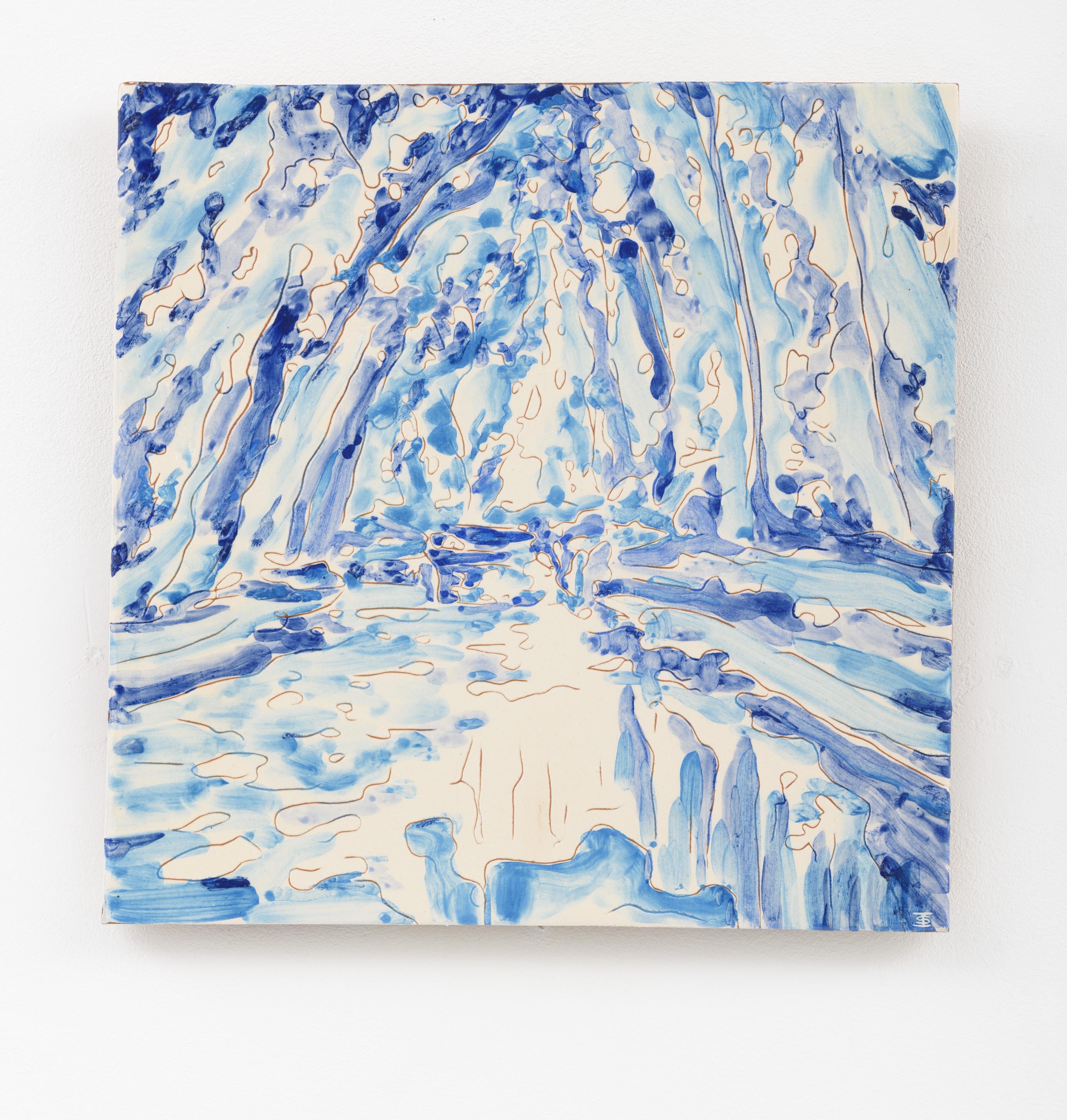 """O meu Alentejo VII"" 27,5 x 27,5 cm. painted ceramic tile Portugal 2015"