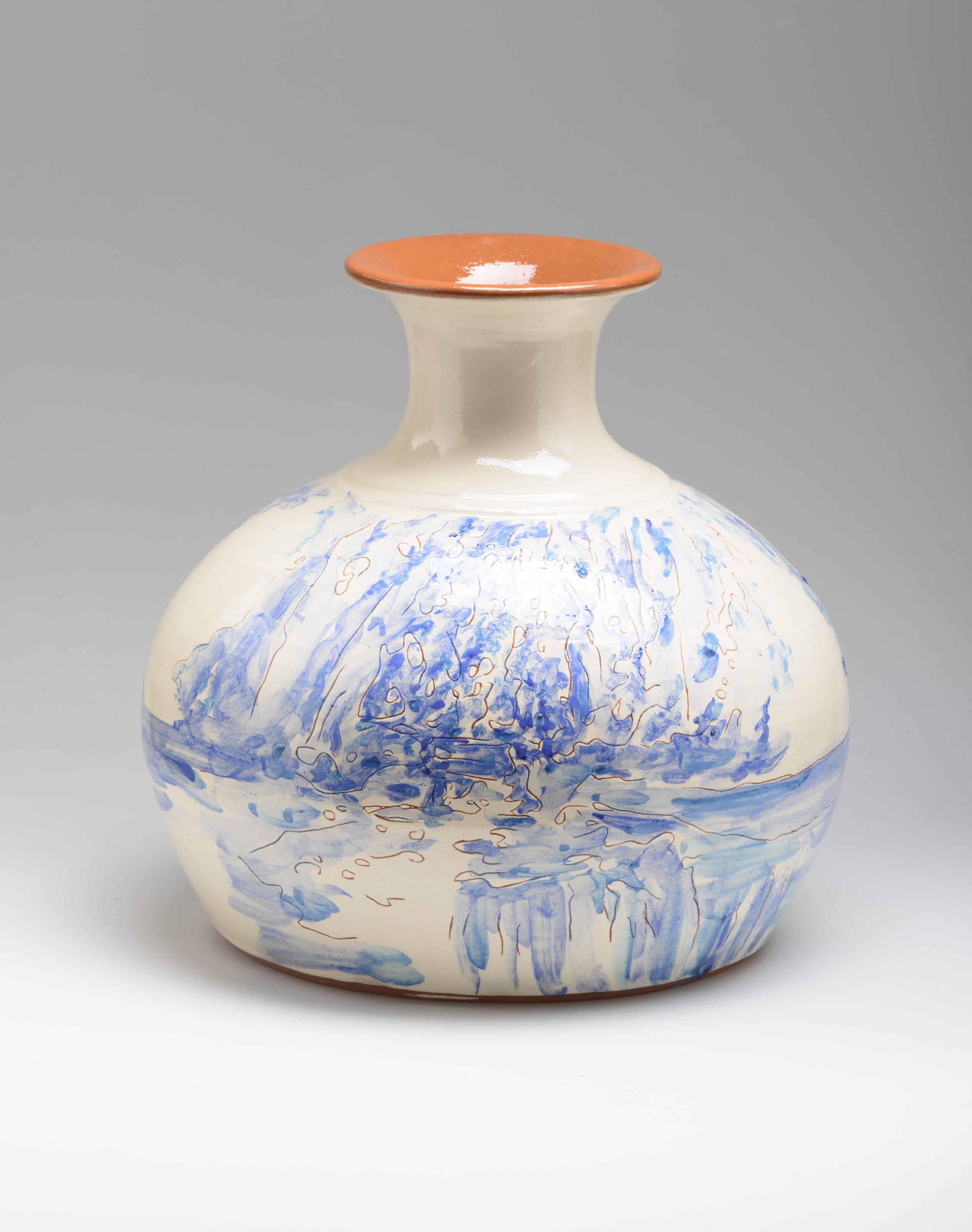 Flower Vase, ceramic, 30 cm. high, Portugal 2015