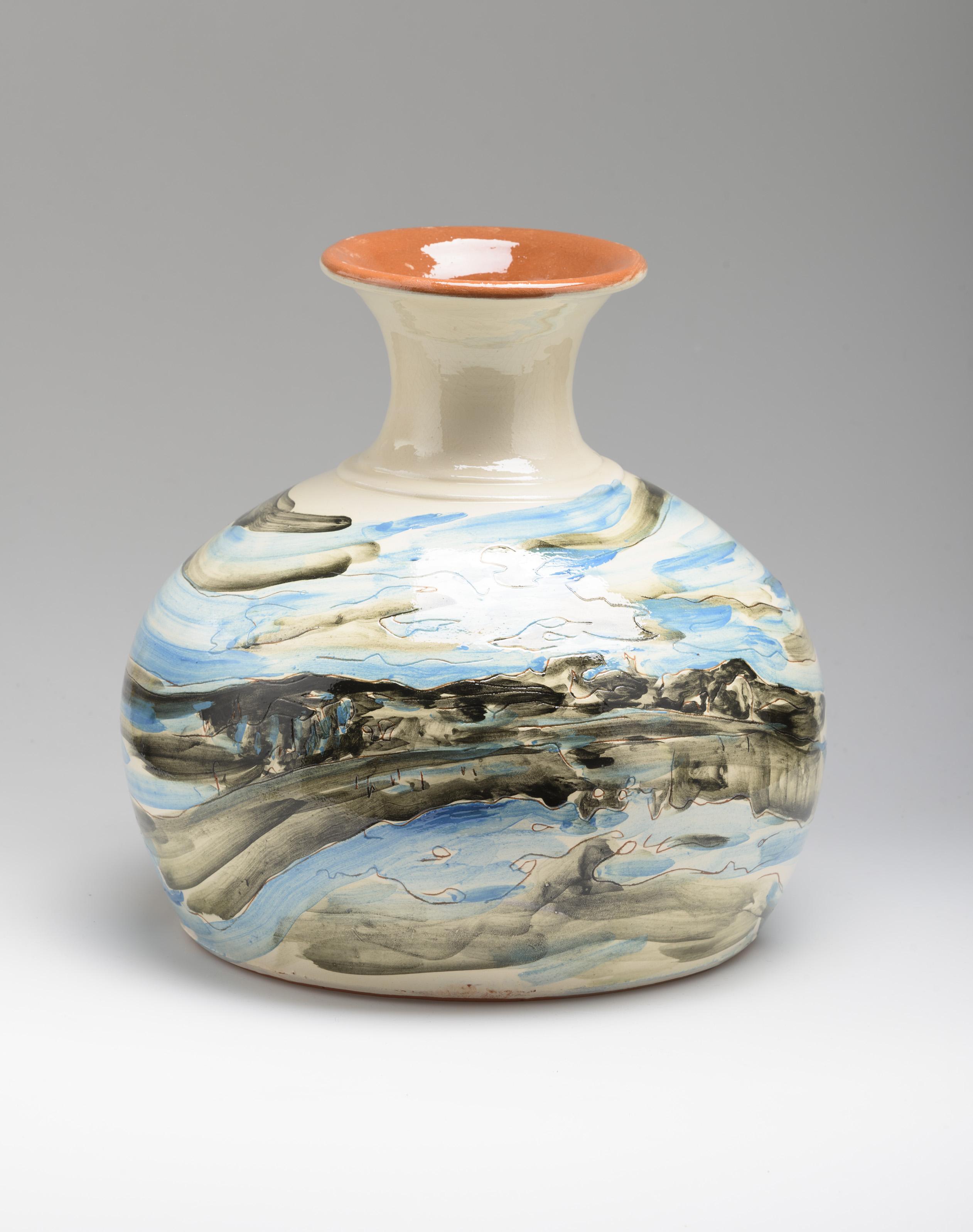 Flower Vase, ceramic, 27 cm. high, Portugal 2015
