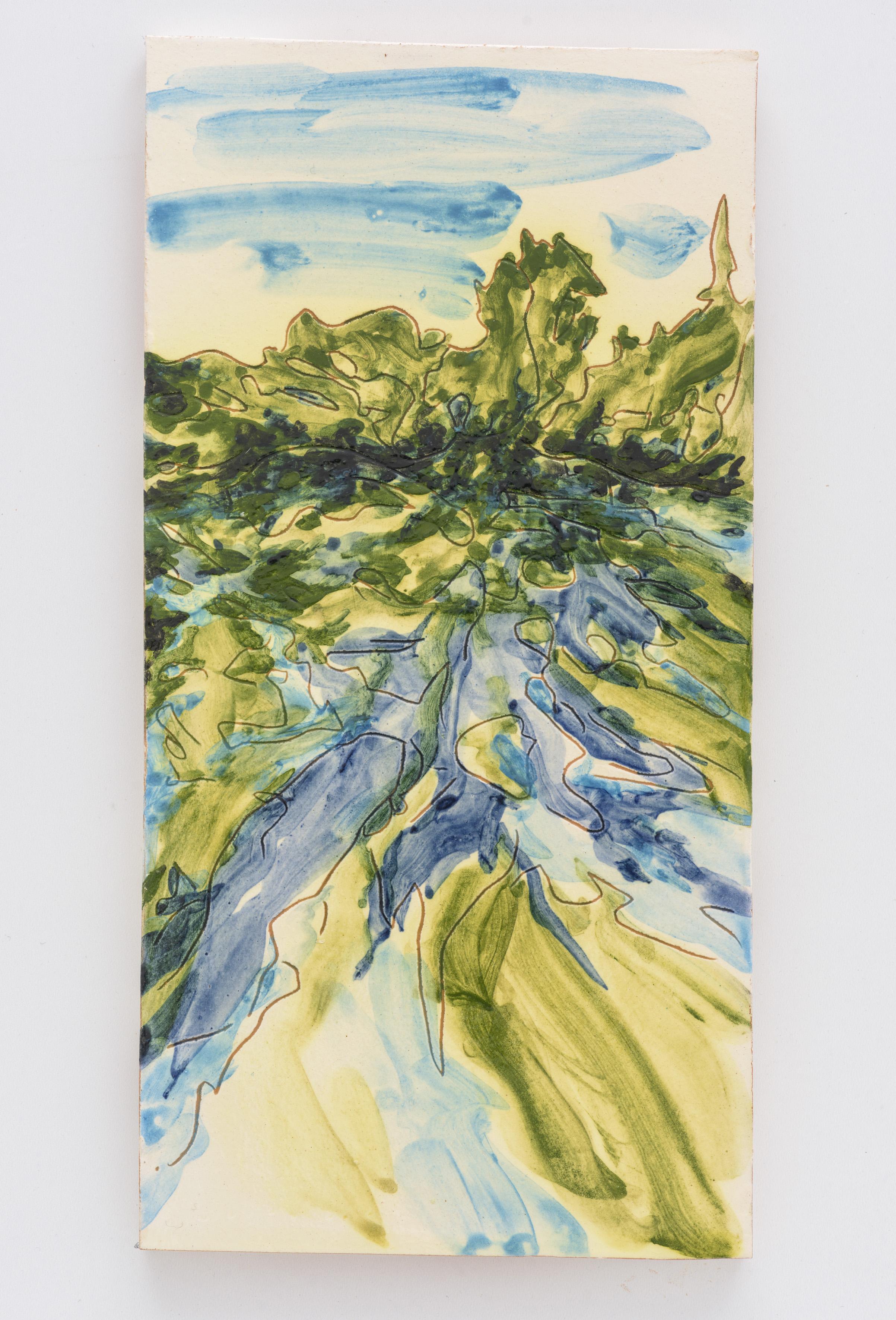 """Reclaimed IV"", painted ceramic tile, 30 x 15 cm., Portugal 2017"