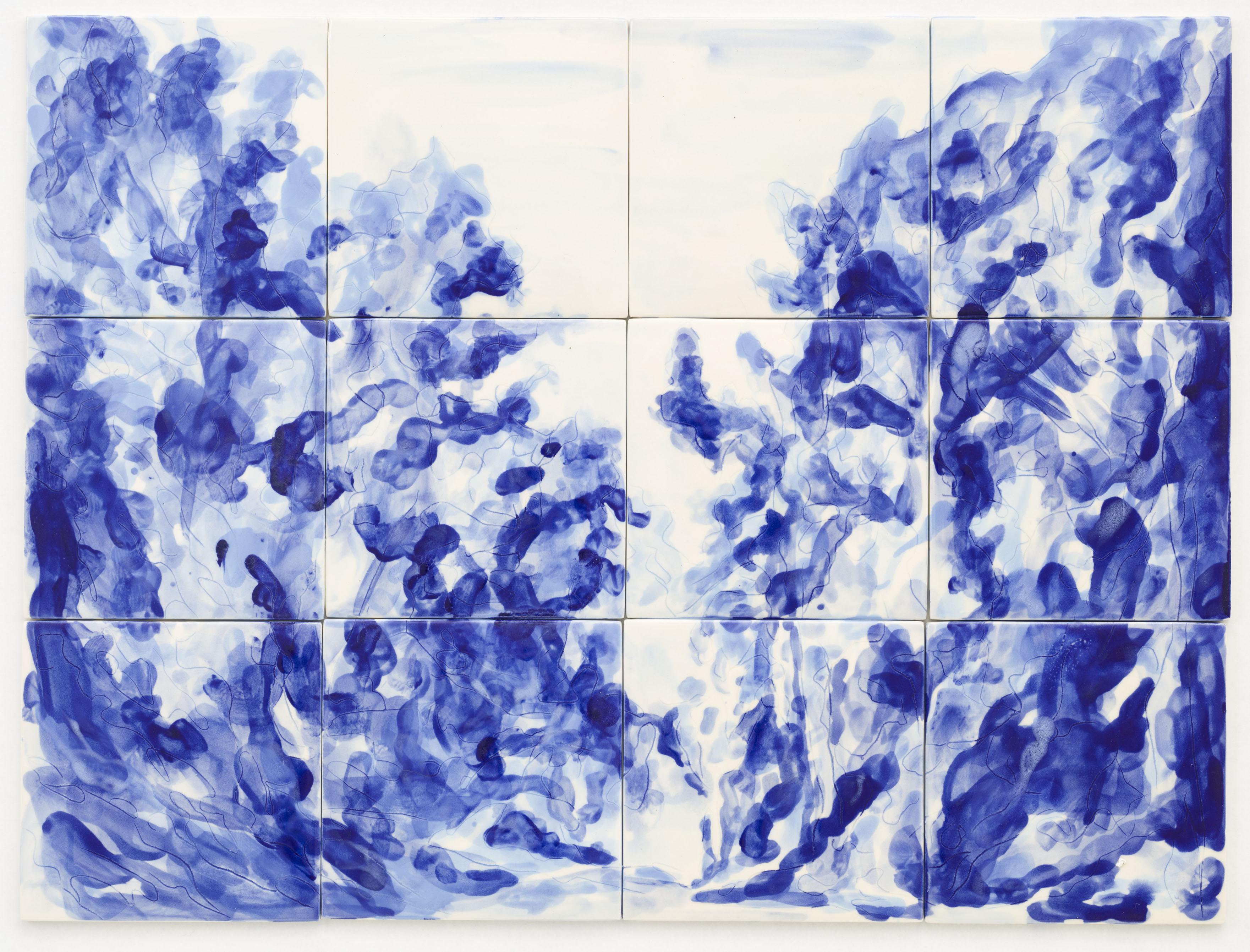 """'Azulejo VII"""", 3 x 4 painted ceramic tiles, 45 x 60 cm., NL 2012"""