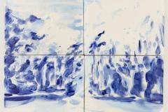 """""""Floresta I"""" 29,5 x 29,5 cm. painted ceramic tiles 2014"""