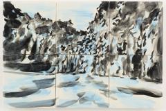 """""""Floresta II"""" 29,3 x 44 cm. painted ceramic tiles 2014"""