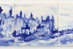 """""""Azulejo VIII"""" 15 x 45 cm. painted ceramic tiles 2012"""