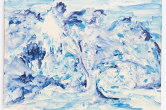"""""""Azulejo Azul II"""" 30,5 x 40,5 cm. painted ceramic tile 2012"""