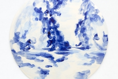 """Azulejo Redondo"" 28,5 cm. painted ceramic tile 2012"