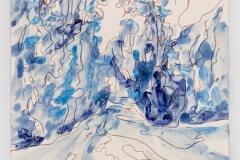 """""""Parque de Monserrate"""" 29 x 15,3 cm. painted ceramic tile 2013"""
