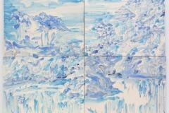 """""""Parque de Monserrate"""" 57 x 75,5 cm. painted ceramic tiles 2013"""