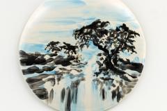 """O fim de Verao"" 33 x 33 cm. painted ceramic tile 2015"