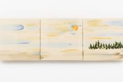 """""""Ochtendgloren II"""" 15 x 45 cm. painted ceramic tile NL 2015"""