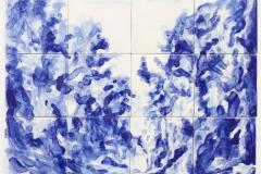 """'Azulejo VII"""" 45 x 60 cm. painted ceramic tiles 2012"""