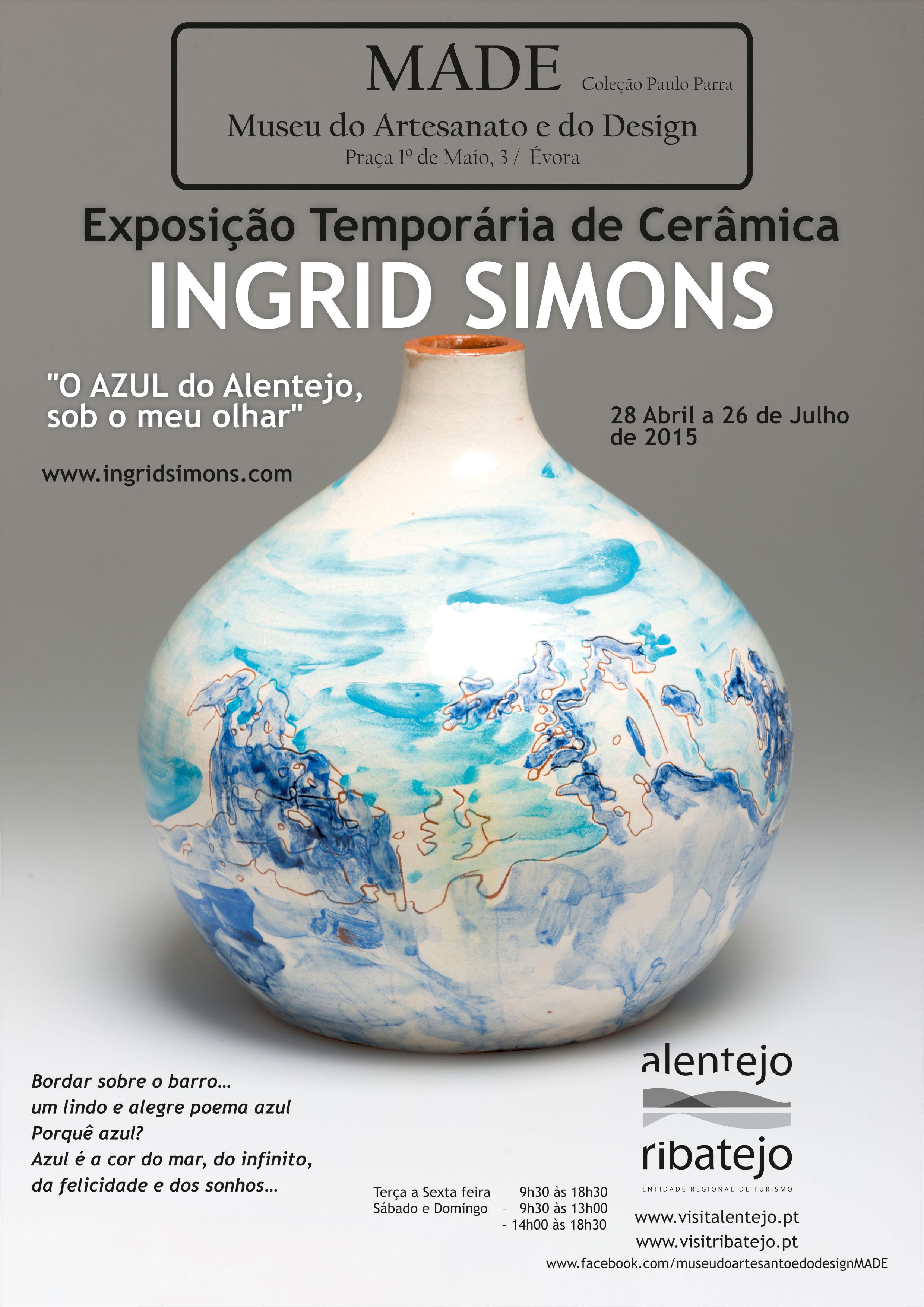 Solo exhibition O azul do Alentejo sob o meu olhar, Museu do Artesanato e do Design, Ėvora (Portugal, 2015)