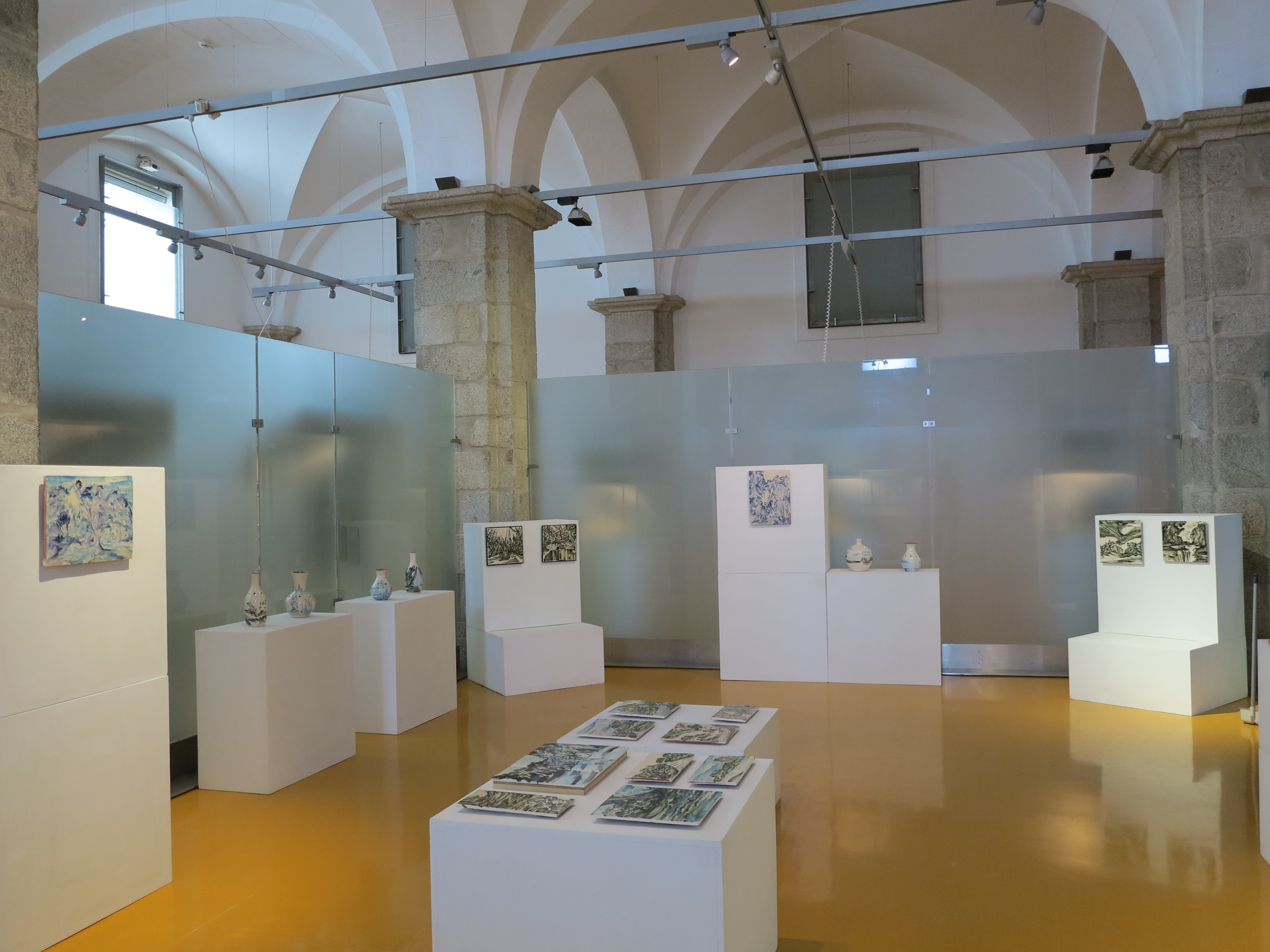 """Solo exhibition """"O azul do Alentejo sob o meu olhar"""", Museu do Artesanato e do Design, Ėvora, Portugal (2015)"""