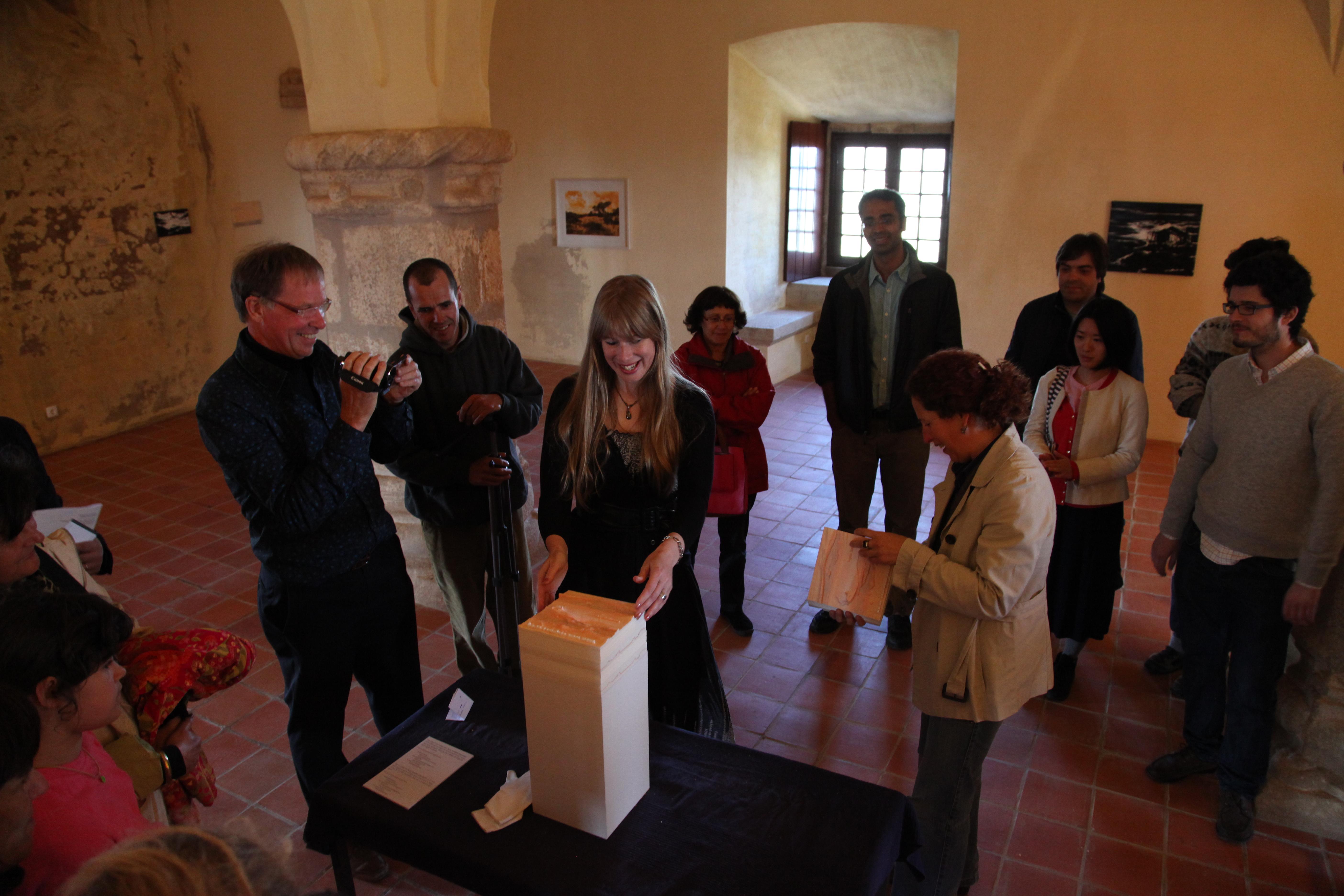 """Solo exhibition """"Jardim Secreto"""", Castelo de Ėvoramonte, Ėvoramonte, Portugal (2013) and bookpresentation of """"So os caminhos eram meus"""""""