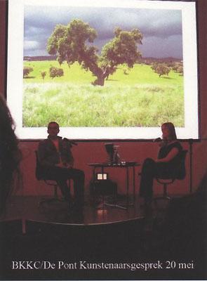 Kunstenaarsgesprek, Alex de Vries, Auditorium Museum de Pont, Tilburg (2010)