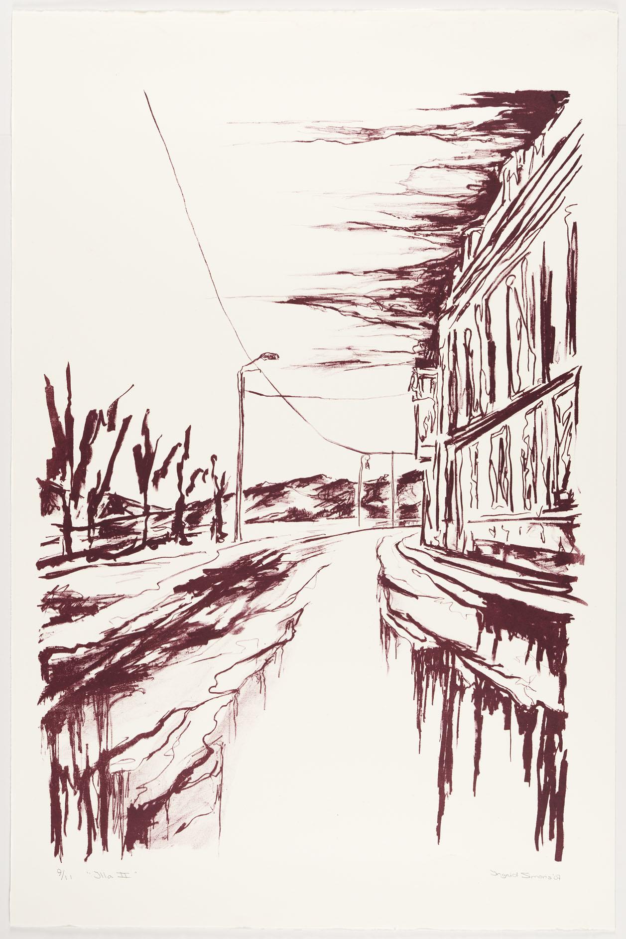 """Illa II"" 120 x 80 cm. lithography (2007)"