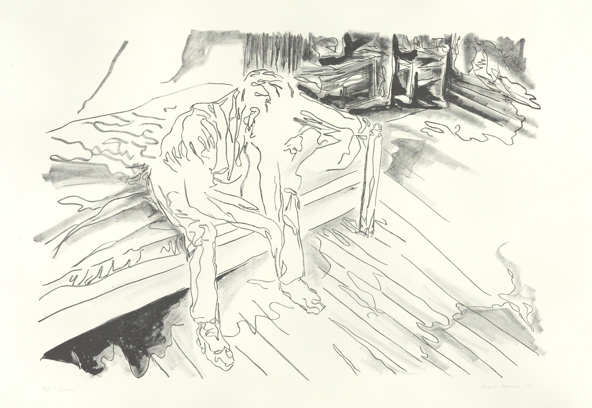 """""""Saulty"""" 80 x 120 cm. lithography (2010)"""