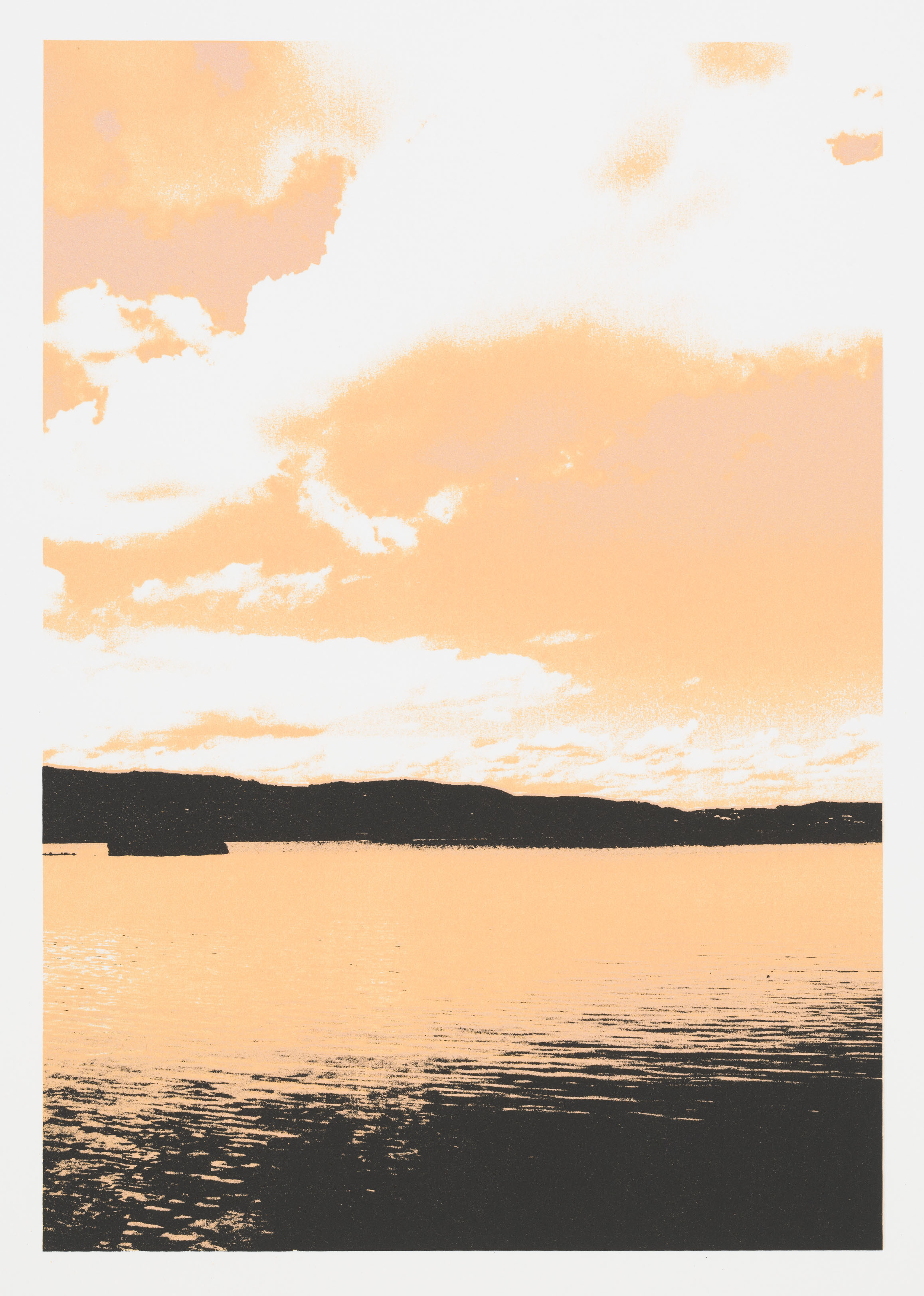 """Lago Trasimeno"" 50 x 35 cm. silkscreenprint (2012)"