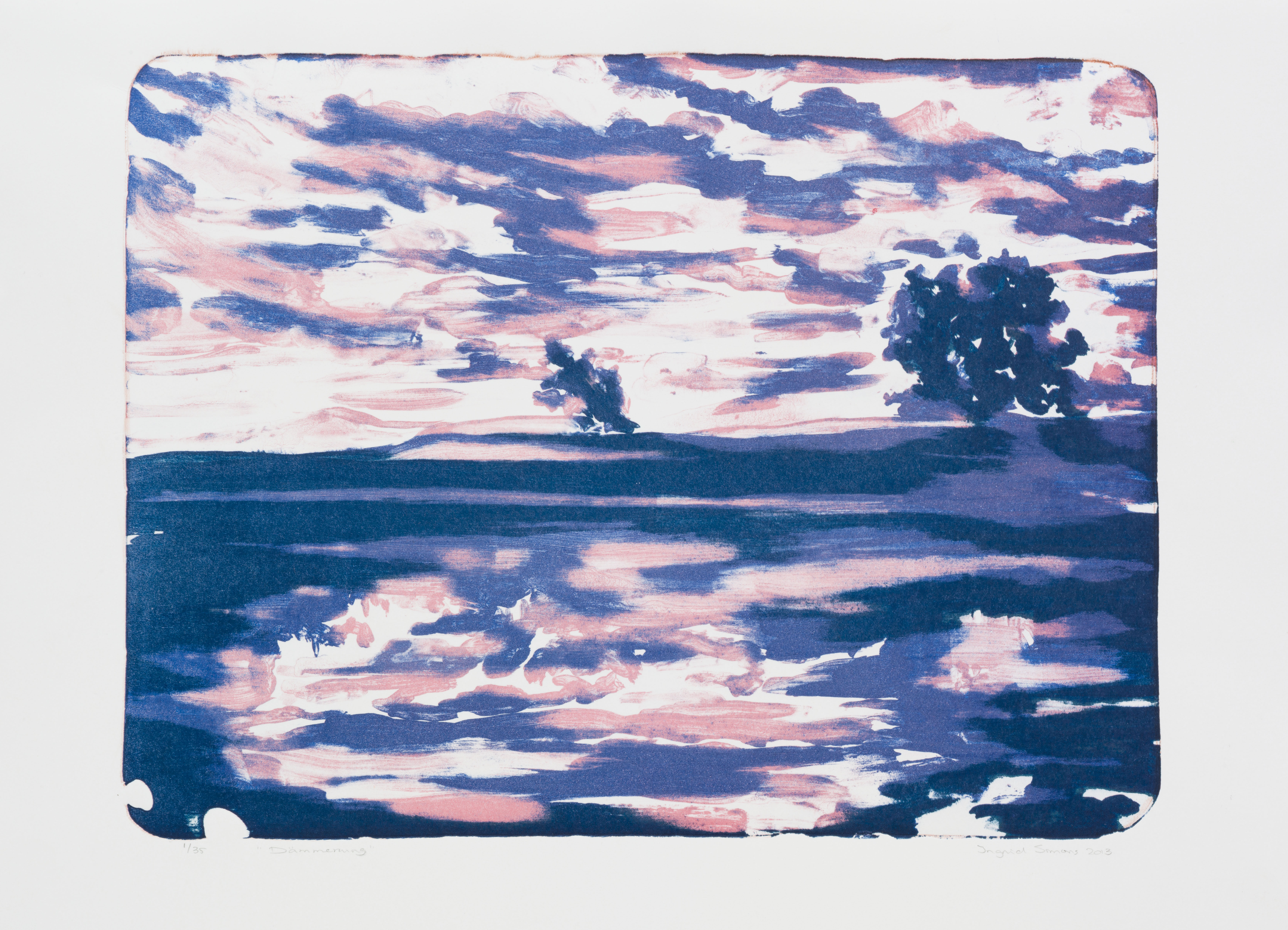"""""""Dammerung"""" 41,5 x 29,8 cm. lithography (2014)"""