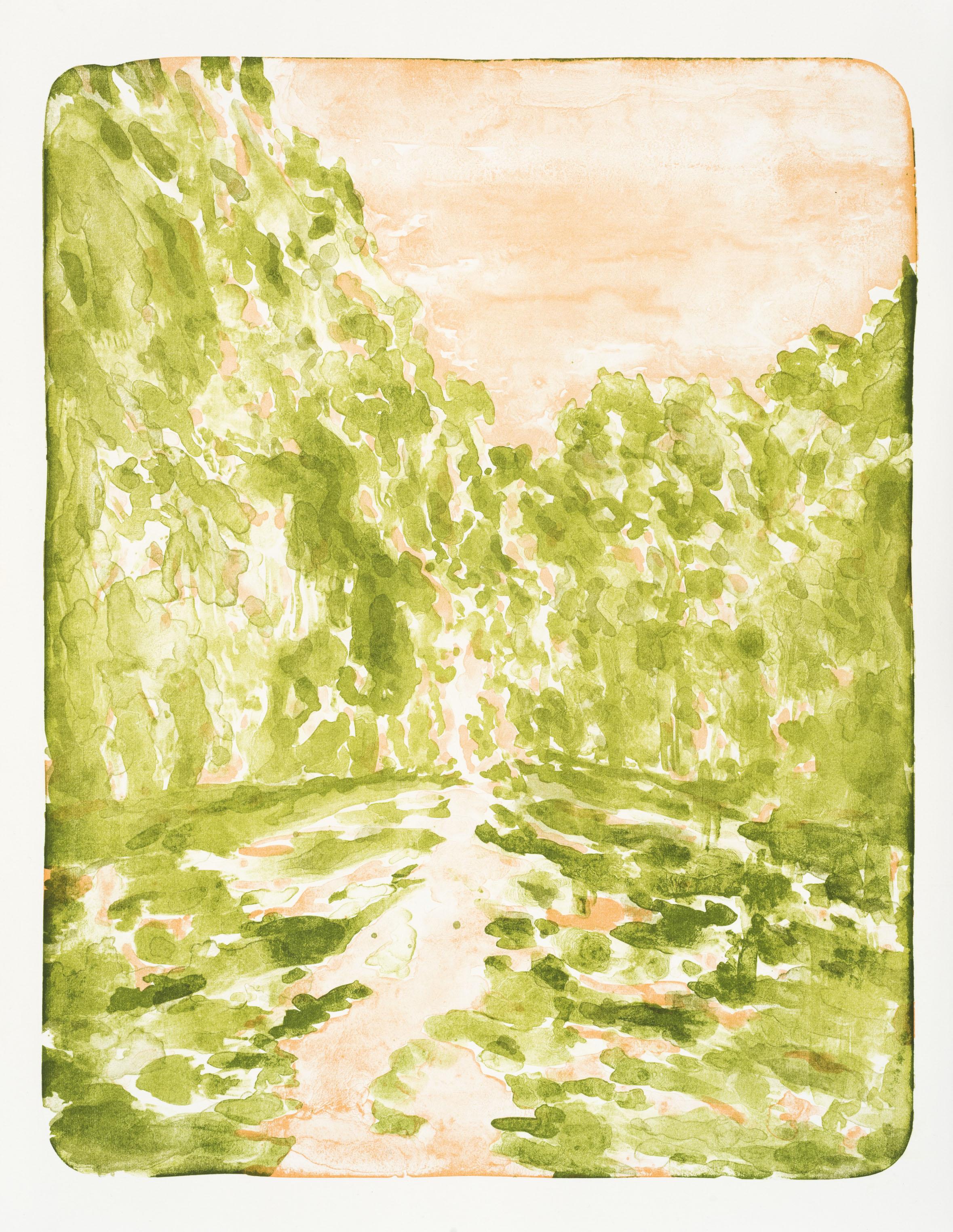"""Fruhling"", 59,5 x 41,7 cm., litho (2014 printed in Berlin)"