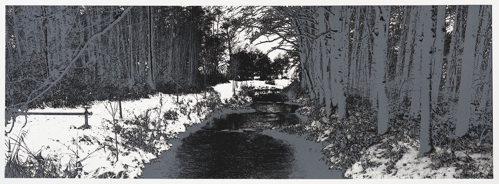 """Change of Seasons I (winter)"" 35 x 100 cm. silkscreenprint (2015)"