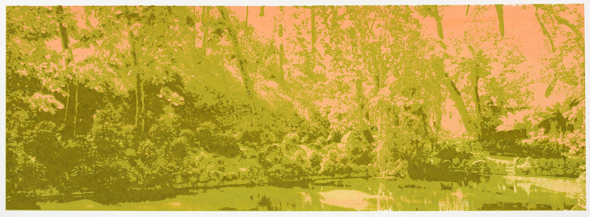 """Change of Seasons II (spring)"", 35 x 100 cm. silkscreenprint (2015)"